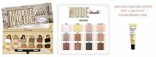 """THE Balm Nude """"Tude"""" Eyeshadow Palette ~~ 100% Autentico (realizzato negli Stati Uniti) + bonus gratuito"""