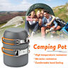 3Pcs Portable Outdoor Camping Hiking Picnic Non-stick Bowl Pot Pan Cookware