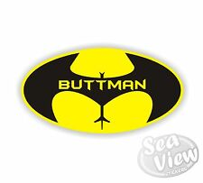 Buttman Batman Logo Supereroe Eroe Pipistrello Adesivi Auto Furgone Adesivo Decalcomania Sticker