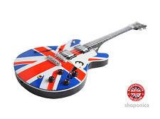 Union Jack Design Wooden Miniature  Mini Guitar Replica