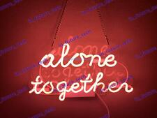 """New Alone Together Pink Neon Light Sign Lamp Beer Pub Acrylic 14"""" Fast Ship"""