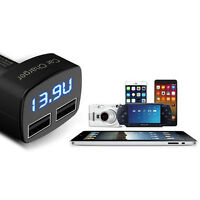 For Smart iPhone Samsung Dual USB 3.1A Car Charger 2 Port Adapter Voltmeter LED