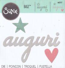 FUSTELLA BIG SHOT SIZZIX  AUGURI STELLA CUORE 662117