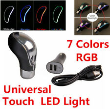 Touch Activated Sensor LED Light RGB Multi-Color USB Charge Car Gear Shift Knob