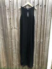 DKNY Black Maxi Silk Combo Dress