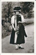Ansichtskarte Tracht aus dem Gutachtal im Schwarzwald - schwarz/weiß