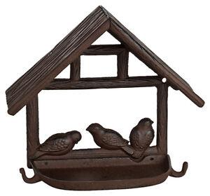 Vogelhaus aus Gusseisen, Futterplatz, Vögel Futterstation, Wandfutterschale