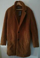"asos men's thick teddy wool coat burnt orange / rust Size M 38""-40""  RRP £80 NWD"