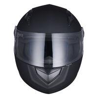 Full Face Motorcycle Helmet DOT Approved Flip Up Touring Matte Black AHR K12 M