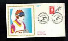 Fdc-1167*France 1990 *La Saut A Ski Fdc w Cef Cachet
