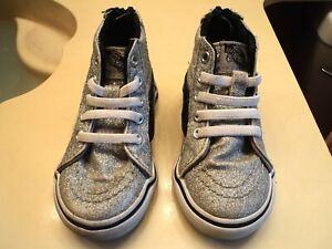 Vans Hi-Top Sneakers. Sz. Toddler 5.0. Girl's. Sparkly!