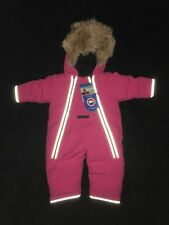 Canada Goose Snowsuit Size 3-6 Months In PINK!!! Authentic!!! Please read
