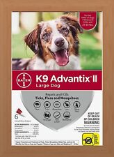 K9 Advantix II Flea & Tick Treatment for Large Dogs 21-55 lbs - 6 Pack