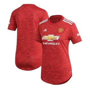 NWT ADIDAS 20-21 MANCHESTER UNITED WOMEN'S SOCCER JERSEY Size M MSRP $80