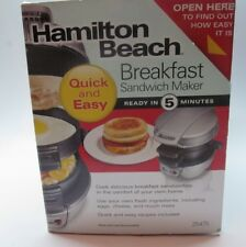 Hamilton Beach 25475 Breakfast Sandwich Maker Quick and Easy!
