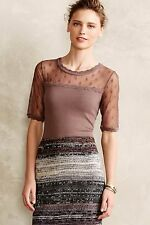 NIP Anthropologie Mirage Pullover by Knitted & Knotted, Size L, Taupe, Dot York