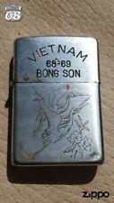 Original Vintage Zippo Petrol Lighter Vietnam War BONG SON 68-69