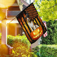 Beagle Dog. Happy Halloween Pumpkin America Flag Thb2460F House Flag Garden Flag