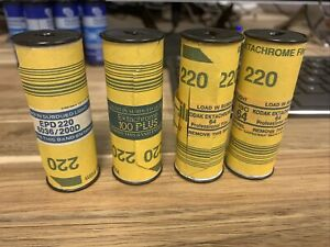 4 Rolls Kodak Ektachrome 220 Film 200D - 100 Plus - 64 Exp. 1997