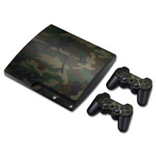 Camo Camouflage Playstation 3 PS3 Slim Skin Vinyl Full Console & 2 Controller