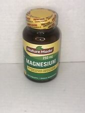 Nature Made Magnesium 250mg - 200 tablets Exp.06/2022