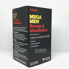 GNC Mega Men Energy & Metabolism 180 Caplets Free Shipping