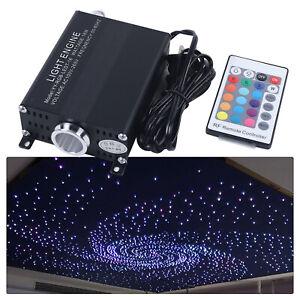 300pcs LED Fiber Optic Star Ceiling Light RGBW Lamp Kit Music Remote For Car