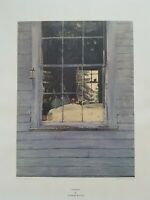"""Andrew WYETH LITHOGRAPH """"Geraniums"""" LIMITED edition 1976 New YORK Graphic Societ"""