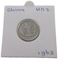 CHINA PRC 2 FEN 1963 TOP #alb35 379