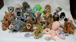 1999 Coca Cola Int'l Ty Beanie Babies Birds Croc Octopus Baboon NWT Lot of 17