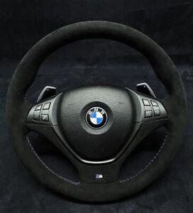 BMW X5 X6 E70 E71 Steering Wheel Alacantara Shift Paddle Thick M Sport Leather