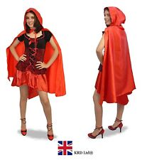 Adult Red Riding Hood Long Cape Ladies Girls Fancy Dress Costume Halloween Party 120 Cm