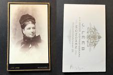 Leeb, München, Adelaïde Ristori, Schauspielerin, actrice, circa 1880 vintage cdv