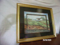 SHERRY MASTERS GOLD GILT FRAMED MATTED LITHOGRAPH PRINT SIGNED