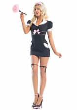 Be Wicked Black Pink Woman's Private Maid Halloween Costume Size S/M Cosplay New
