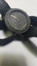 Vintage Tuscany Men/Lady Gray Granite Swiss Movt Quartz Watch Needs New Battery