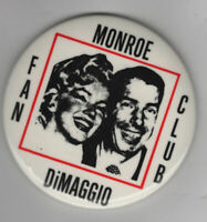 Vintage Movie Pin Marilyn Monroe Pin Joe DiMaggio Pin Monroe DiMaggio Fan Club