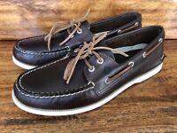 """Men's Sperry """"Authentic Original"""" Boat Shoes Brown Leather Size 10"""