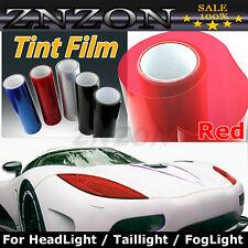 "Red 12""X48"" Headlight Fog Light Taillight Tint Vinyl Film Sheet Sticker NEW"