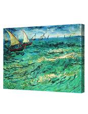 DecorArts Fishing Boats At Sea by VanGogh Art Giclee PrintOn CanvasGalleryWrappe