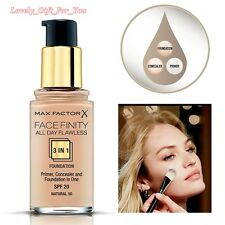 New Max Factor FaceFinity Foundation 3in1 All Day Flawless 30ml SPF20 Natural 50