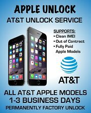 at&t iphone 10 8 7 plus 6s 6 pro max xs xr x apple Factory Unlock Service att