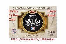 Roman Quinn - 2017 Topps Tier One Baseball Hobby 12 Box Case Player Break