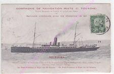 CPA BATEAU DJURJURA Compagnie navigation mixte Cie Touache ca1908
