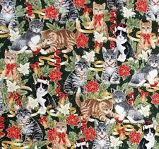 Christmas Cats Patchworkstoffe Stoffe Weihnachten Patchwork Katzen Katzenmotive