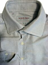 JACQUES BRITT Shirt Mens 14.5 S Grey - Brown Flecks