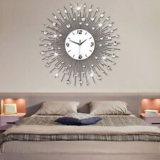 Modern Style 60CM DIY Large Round Metal Wall Clock Home Office Decor Quartz Move