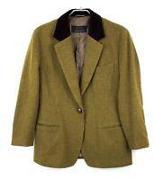 BOGNER Women Blazer Jacket CZ291 Wool Coat Size US:12; H:40;