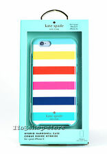 Kate Spade Hard Case Snap Cover for iPhone 6/ 6s Multi Color Candy Stripes OPEN