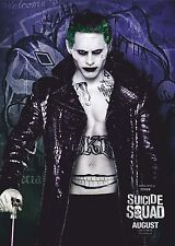 Suicide Squad Film Posters  - Joker - Option 1 - A3 & A4